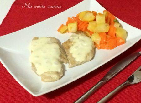 Scaloppine di maiale con patate e carote