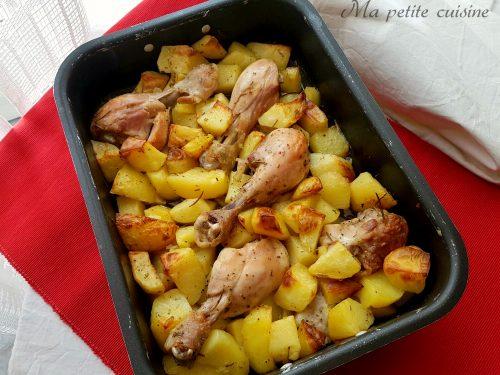 Fusi di pollo al forno con patate video ricetta