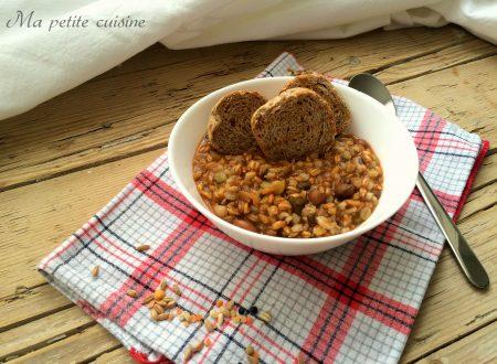Zuppa di legumi e cereali video ricetta