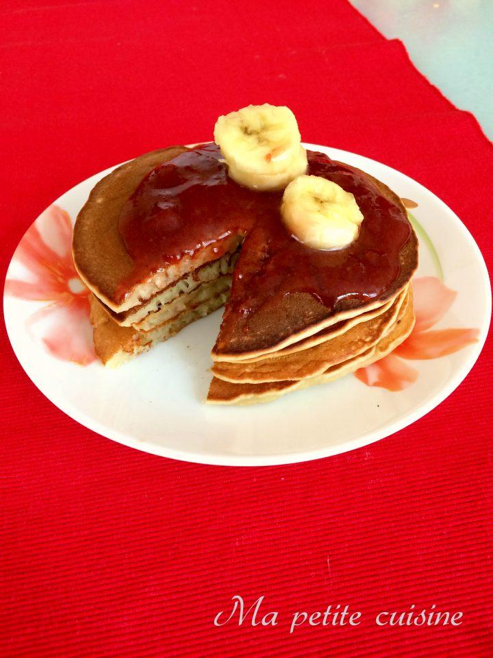 Pancakes senza uova alle banane