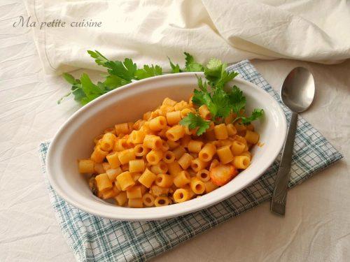 Pasta con crema di fagioli e frutti di mare