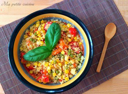 Cous cous freddo alle verdure piatto leggero