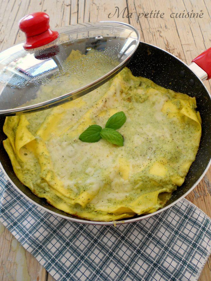 Lasagna con Crema di Zucchine Cotta in Padella