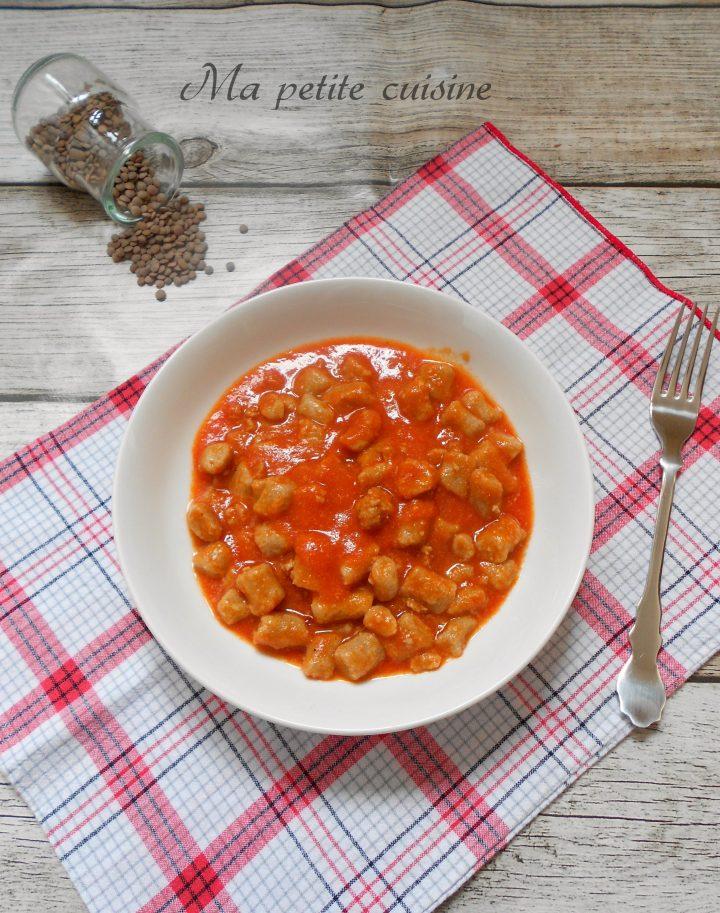 Gnocchi con farina di lenticchie