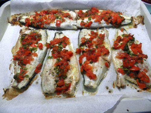 filetti di branzino al forno con pomodorini - Come Cucinare I Filetti Di Branzino