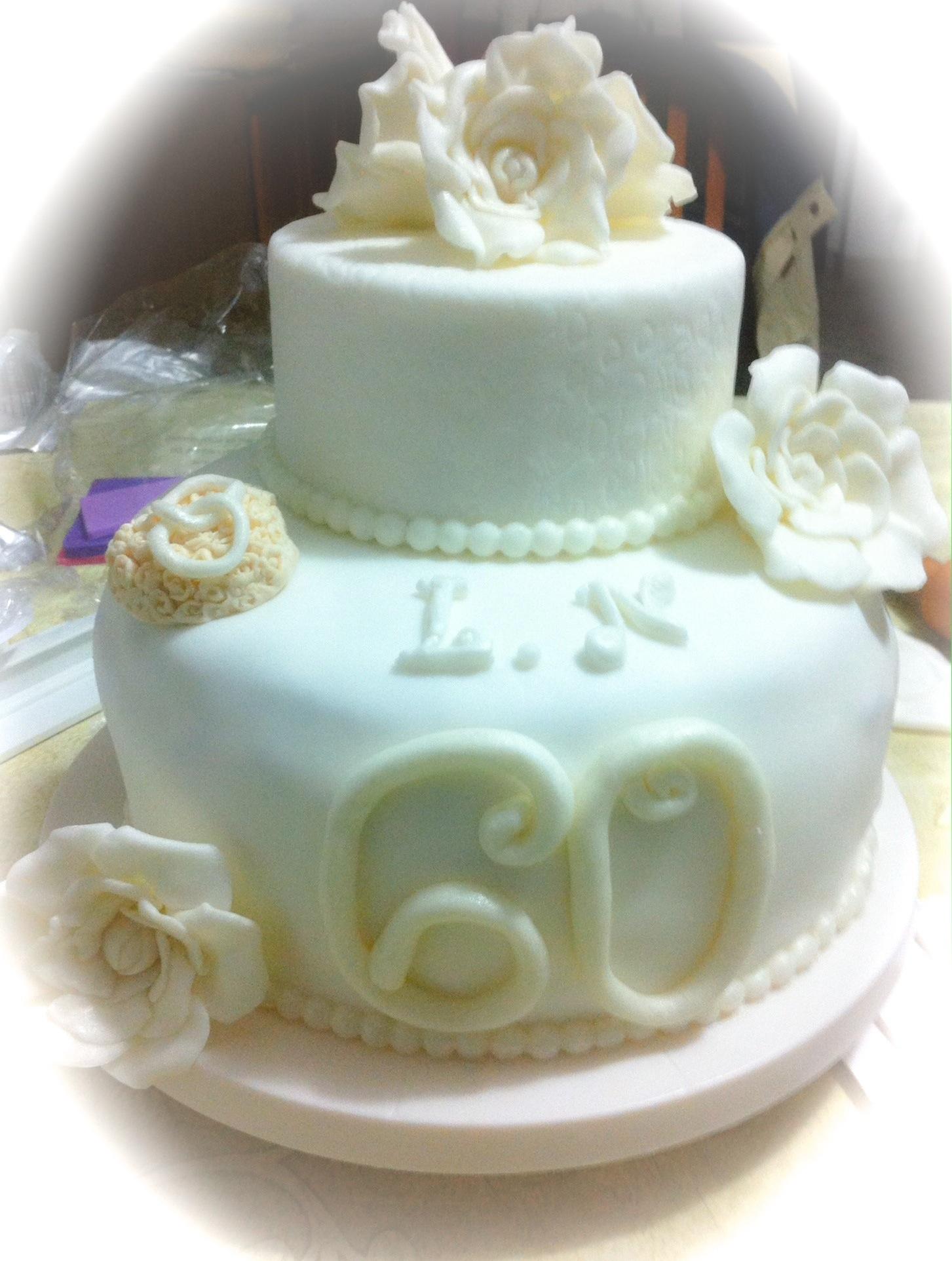 Très torta 60 anni di matrimonio PZ18