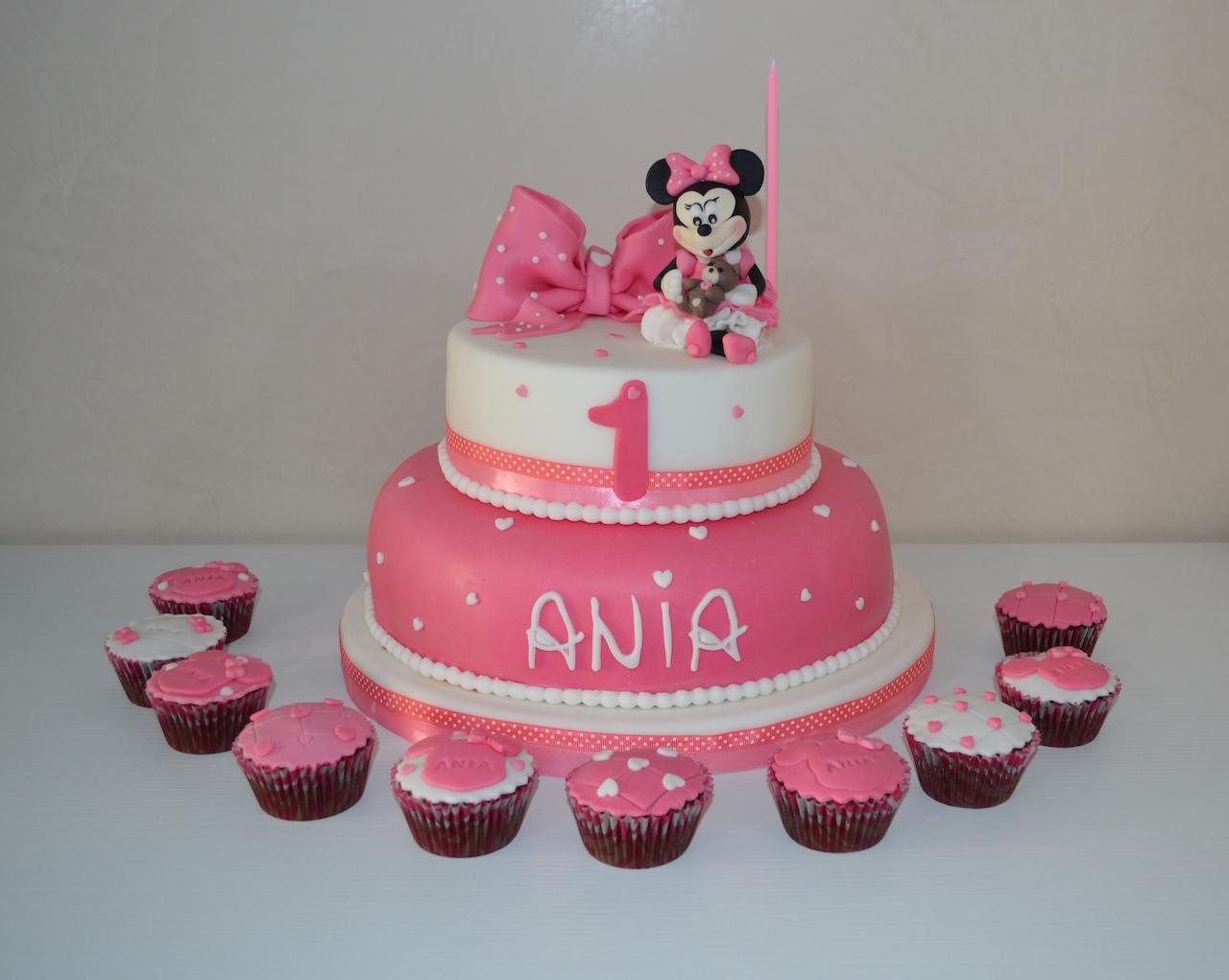 Torta Minnie Primo Compleanno