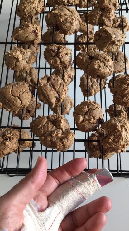 Biscotti pistacchio e cioccolato fondente