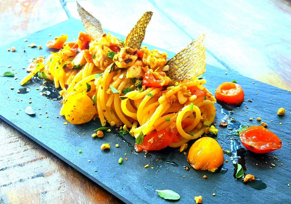 Spaghetti orata e pomodorini