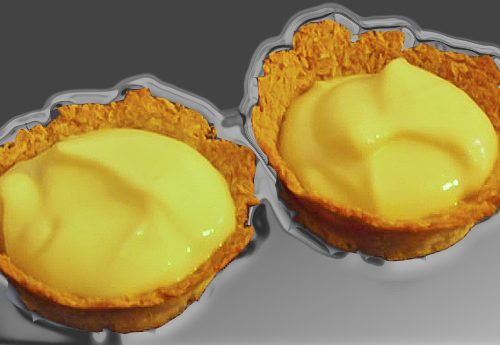 Cestini di cocco con mousse al limone