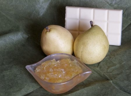 Confettura di pere e cioccolato bianco