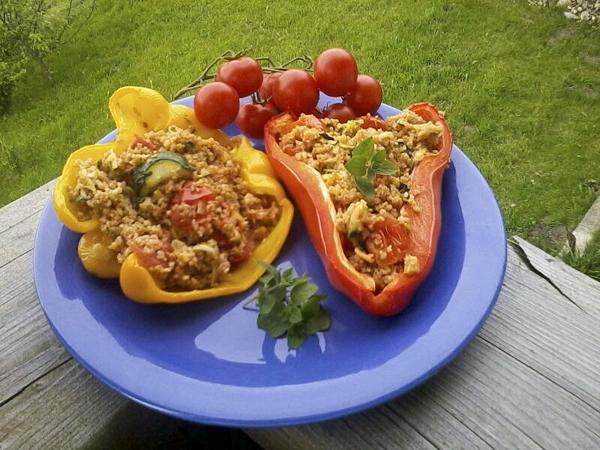 Peperoni ripieni di couscous