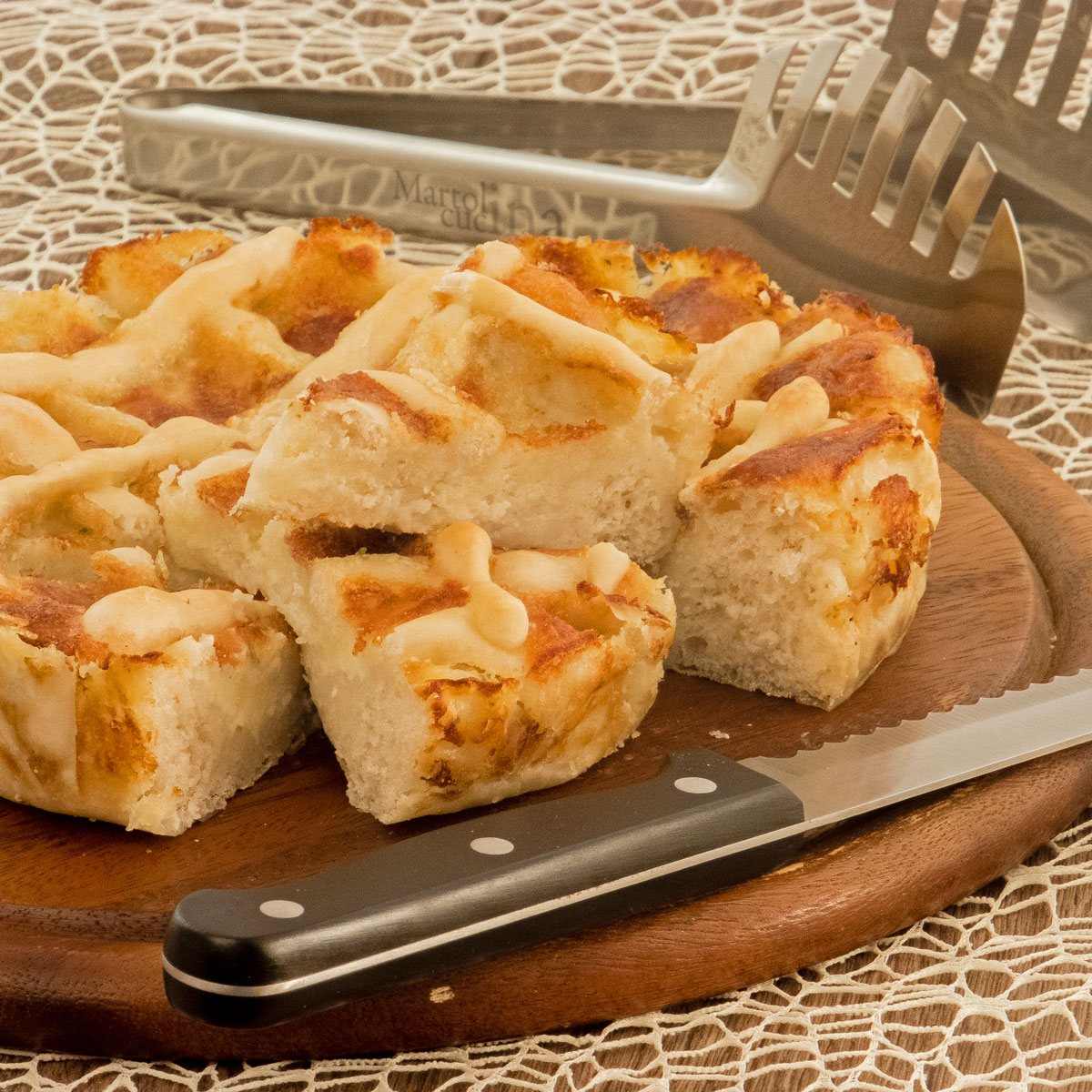 Focaccia di patate al gorgonzola