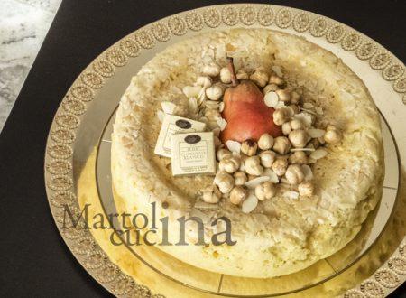 Ciambella alle pere, cioccolato bianco e nocciole senza burro (fornetto Versilia)