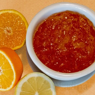 Confettura di arance, limoni e pompelmi