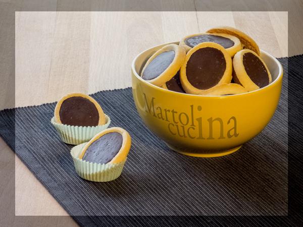 Tartellette facili al cioccolato