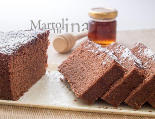 Plumcake al cacao, miele e noci in microonde
