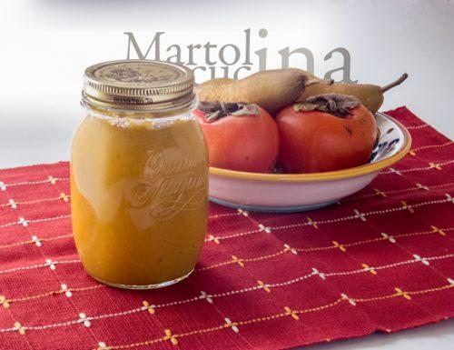 Confettura di cachi, mele e pere