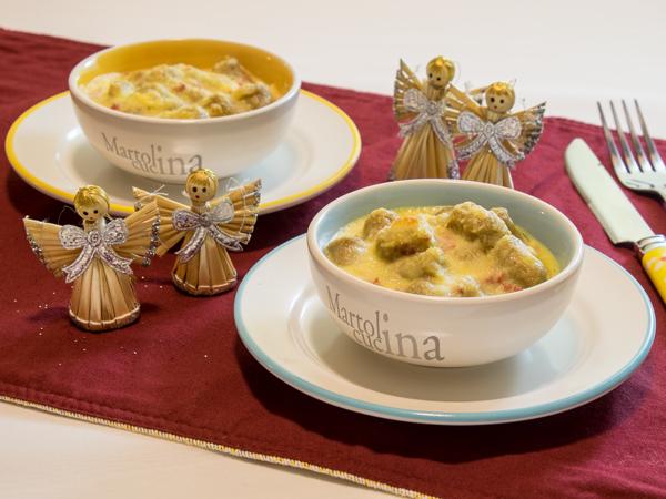 Gnocchi integrali gratinati con salsa mornay e prosciutto