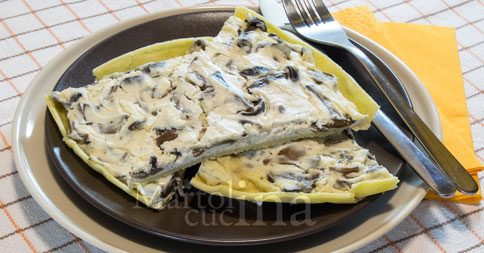 Torta salata con brisee al mais