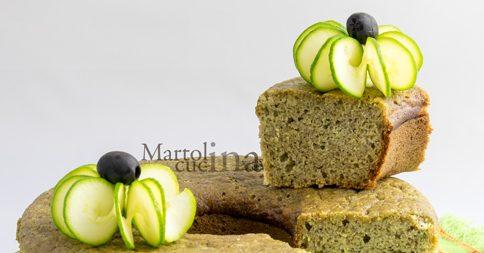 Ciambella rustica all'olio con zucchine e patè di olive