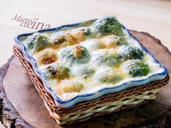 Cavolini di Bruxelles al gorgonzola e speck_600x450