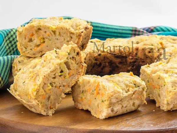 Ciambella con carote e zucchine senza uova e burro_600x450