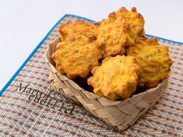 Muffin salati all'olio con salame e finocchietto_600x450