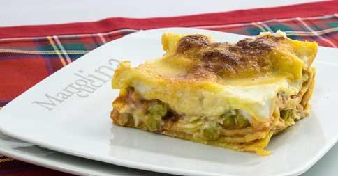 Lasagne al ragù e piselli, primo piatto facile