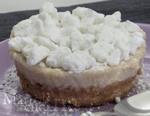 Cheesecake con ricotta, amaretti e confettura di marroni