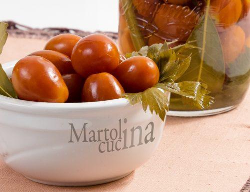 Pomodorini sottaceto, ricetta facile