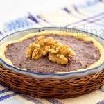 Crostata di frolla salata con radicchio, stracchino e noci