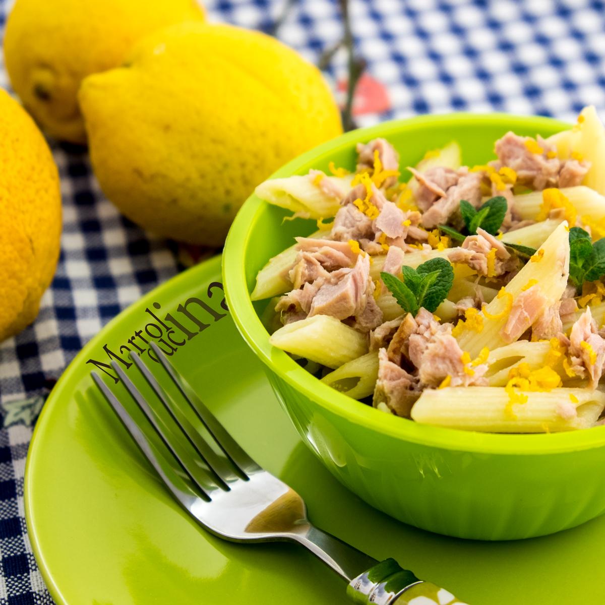 Pasta al tonno e limone