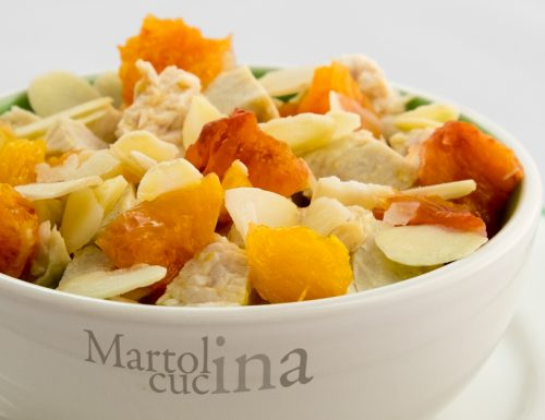 Insalata di pollo all'arancia