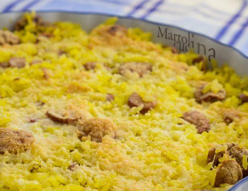 Tortino di riso giallo