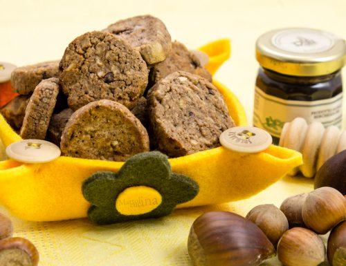 Biscotti al cioccolato e castagne con esubero di lievito madre