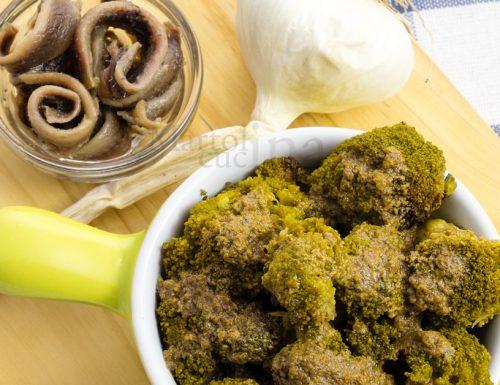 Broccoli all'acciuga, ricetta facile, contorno saporito