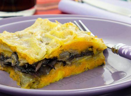 Lasagne zucca e radicchio