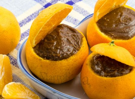 Mousse al mandarino e cioccolato fondente
