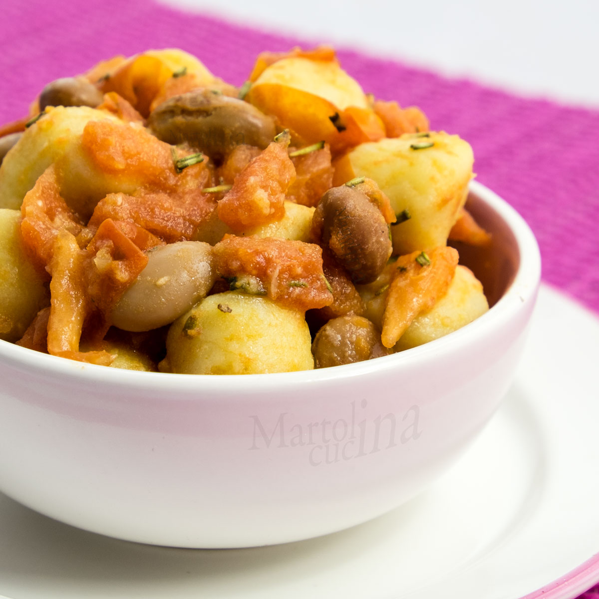 Gnocchi alla Grappa con fagioli e parmigiano