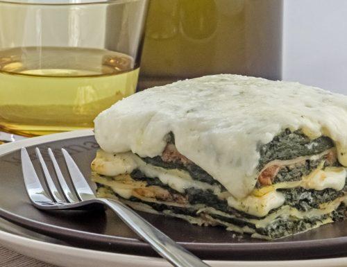 Lasagne al ragu, spinaci e stracchino