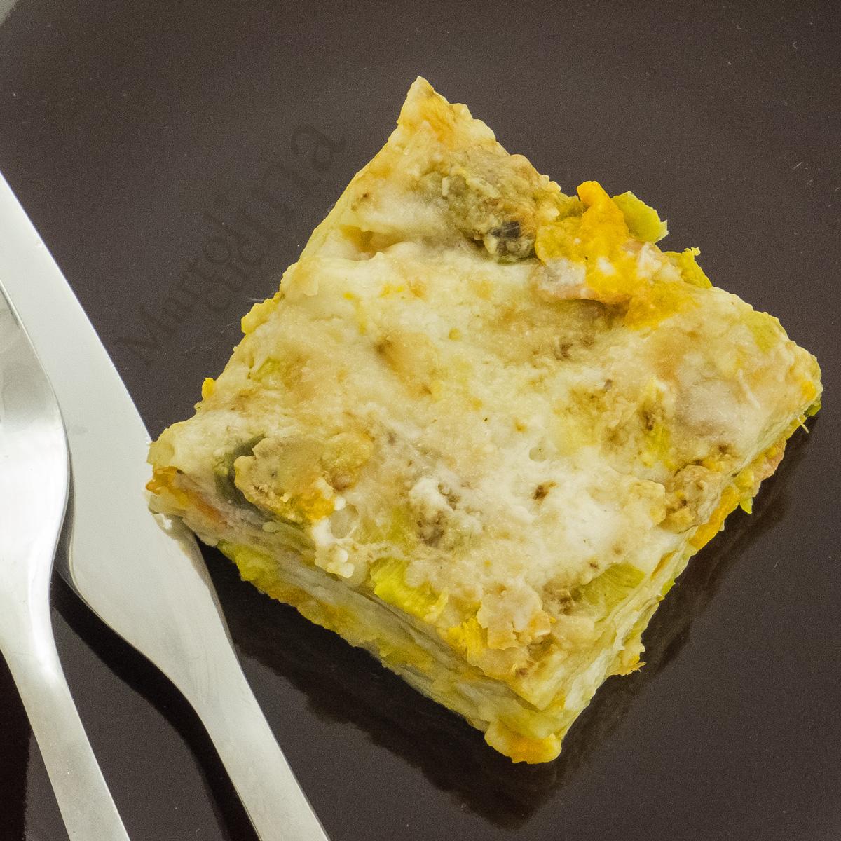 Lasagne zucca e porri