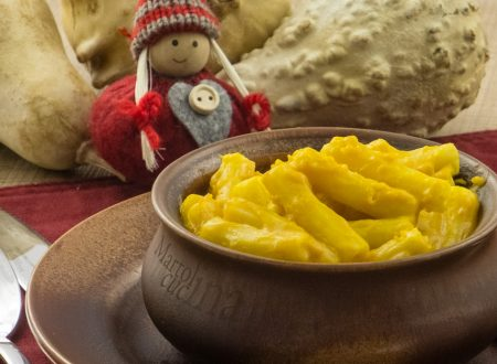 Pasta alla crema di zucca e stracchino