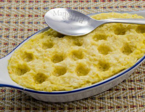 Gratinato di riso e formaggio