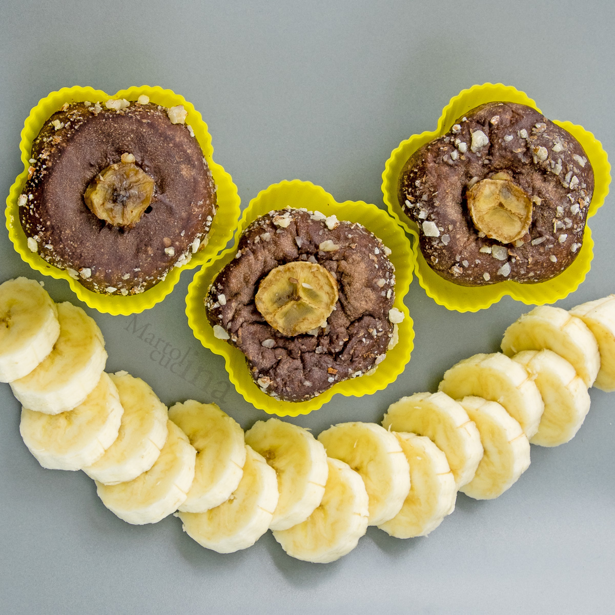 Muffin banane cacao