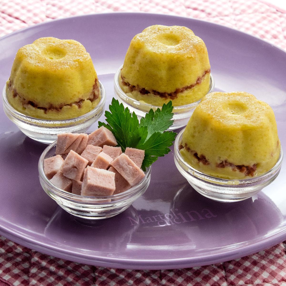 Tortini di patate con mortadella