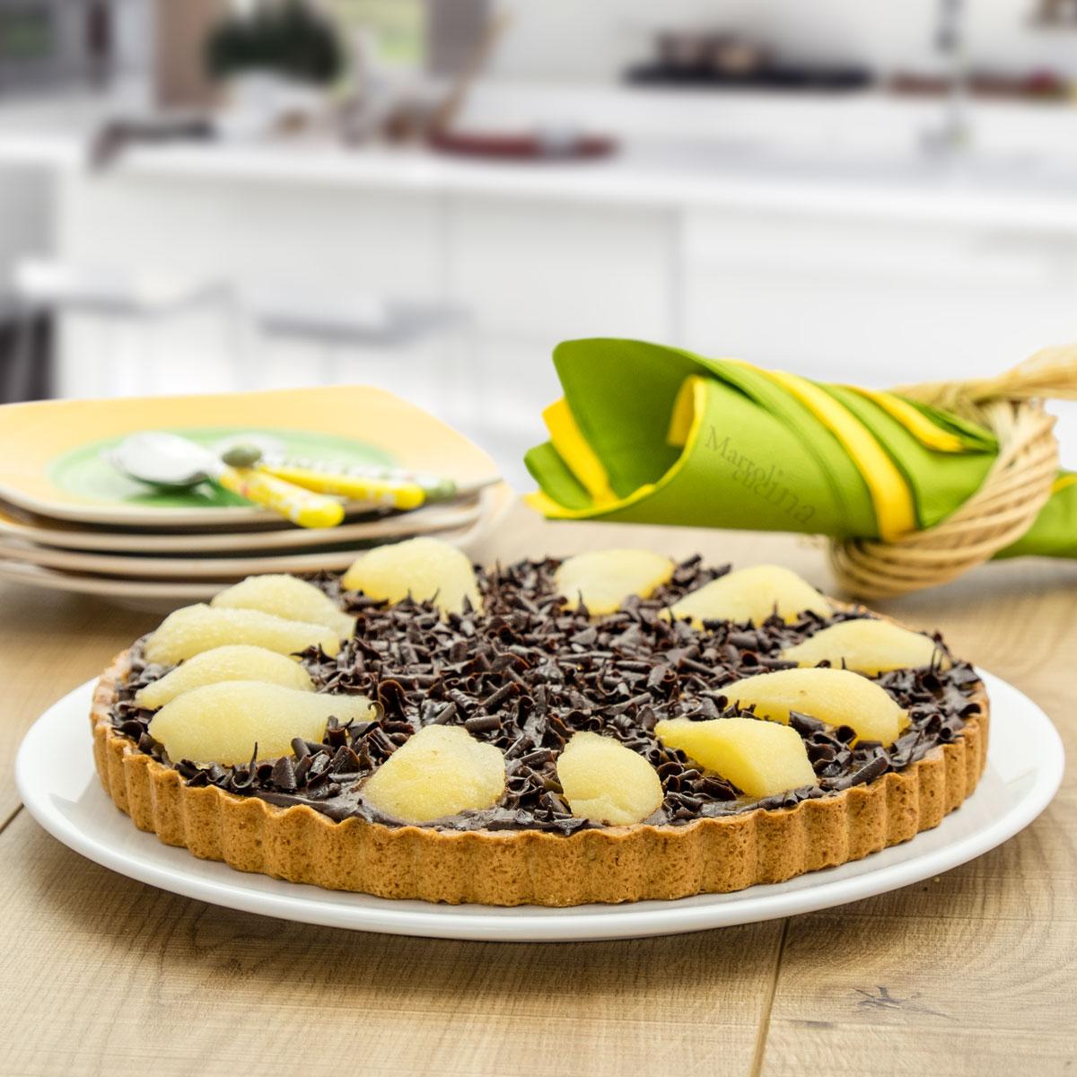 Crostata di pere al cioccolato fondente