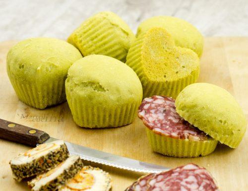 Muffin di pane ai piselli