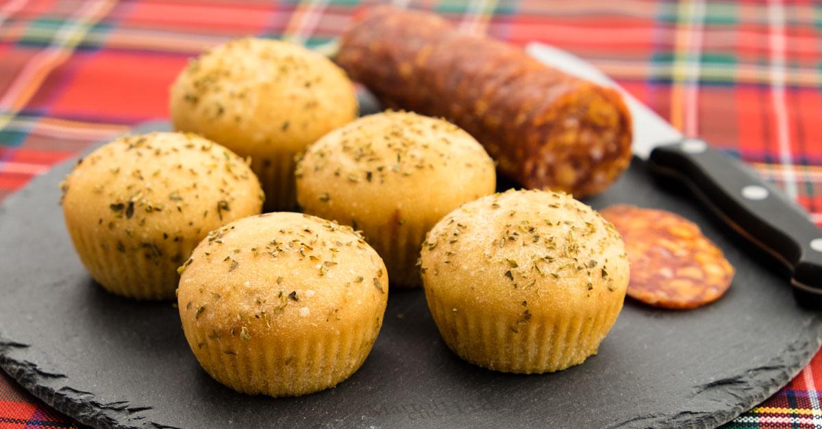 Muffin pomodoro origano senza burro