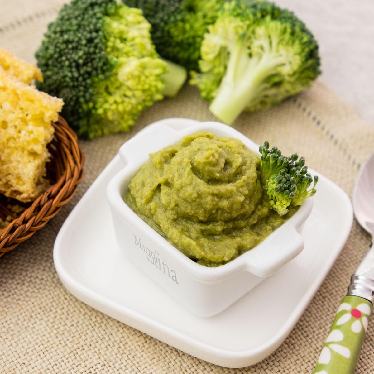 Mousse di broccoli e acciughe